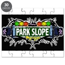Park Slope Brooklyn NYC (Black) Puzzle