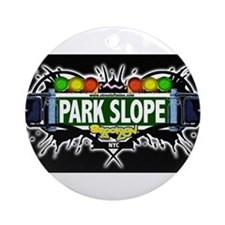 Park Slope Brooklyn NYC (Black) Ornament (Round)