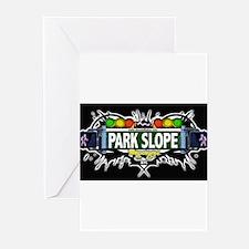 Park Slope Brooklyn NYC (Black) Greeting Cards (Pk