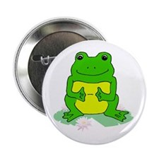 Smiling Froggy Button