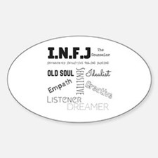 Unique Personality psychology Sticker (Oval)