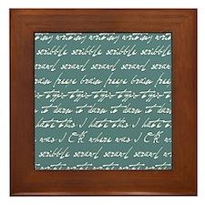 Scribble scribble... Framed Tile