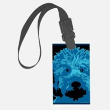 What a blue dog! Luggage Tag