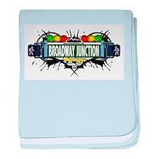 Broadway Junction (White) baby blanket