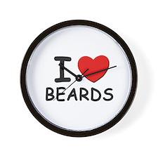 I love beards Wall Clock
