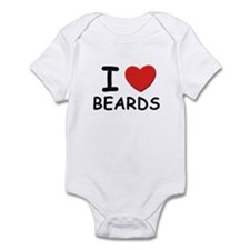 I love beards Infant Bodysuit