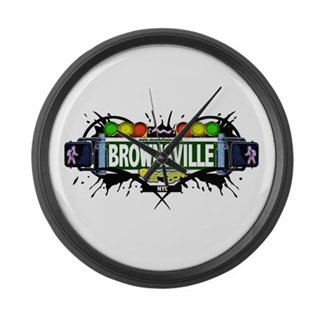 Brownsville White Large Wall Clock By Empirecommittee