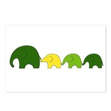 Elephant Family Postcards (Package of 8)