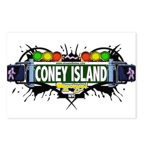 Coney Island Brooklyn NYC (White) Postcards (Packa