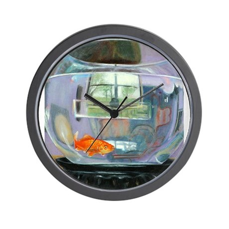 Fish bowl wall clock by annecutridesigns for Fish wall clock