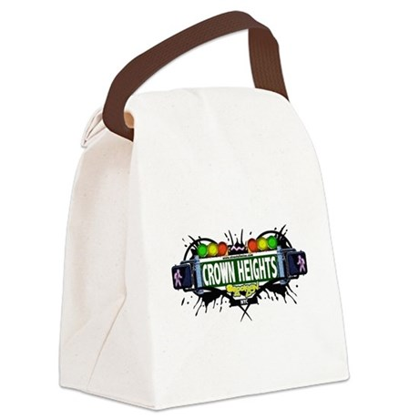 Crown Heights Brooklyn NYC (White) Canvas Lunch Ba