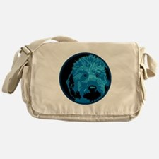 What a blue dog! Messenger Bag