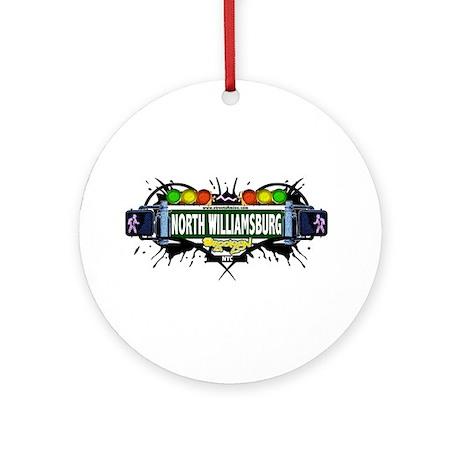 North Williamsburg Brooklyn NYC (White) Ornament (