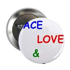 "Peace Love and Bar B Q 2.25"" Button"