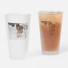"""A Timber Wolf"" Drinking Glass"