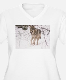 """A Timber Wolf"" Plus Size T-Shirt"