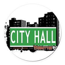 CITY HALL, MANHATTAN, NYC Round Car Magnet