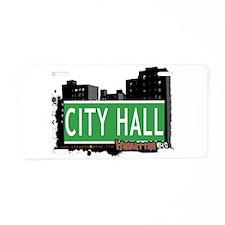 CITY HALL, MANHATTAN, NYC Aluminum License Plate