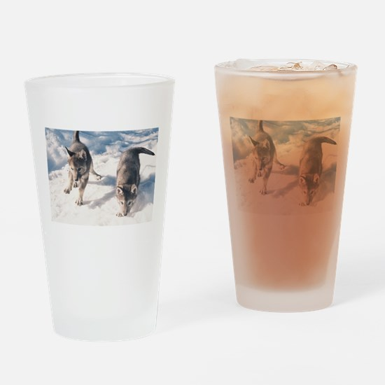 """""""Two Cubs"""" Drinking Glass"""