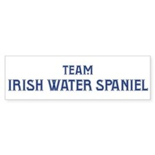 Team Irish Water Spaniel Bumper Bumper Sticker
