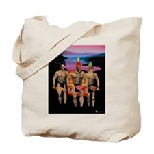 Tote Bag, Three Warriors of Hilo