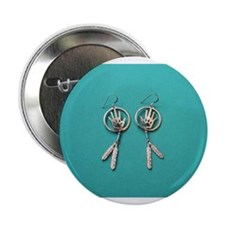 """""""Silver And Turquoise"""" 2.25"""" Button"""