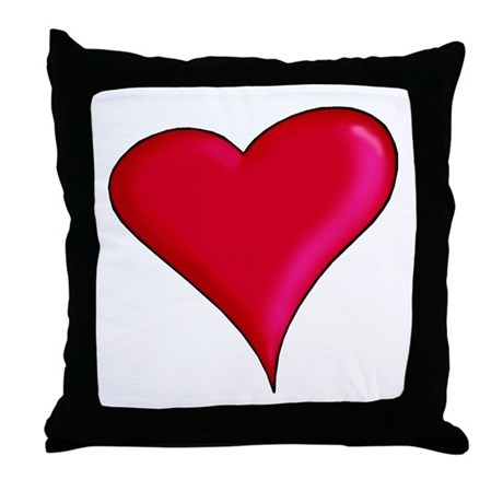 Red Heart Throw Pillow by culturegraphics