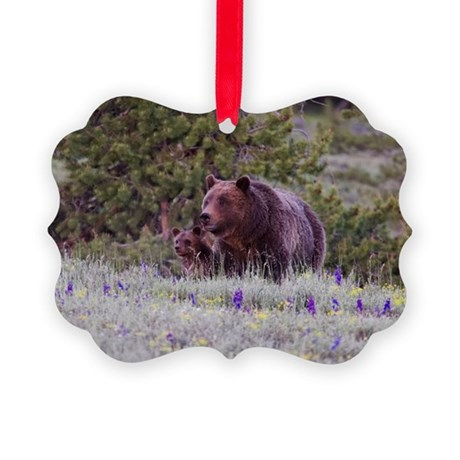 Grizzly Bear 399 Triplet Cubs Ornament