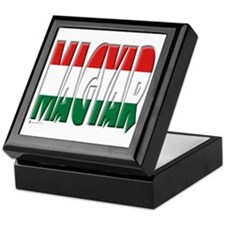 Word Art Flag Magyar Keepsake Box