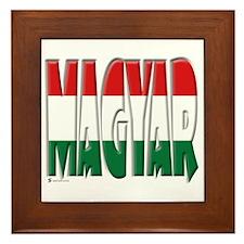 Word Art Flag Magyar Framed Tile
