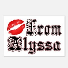 """""""Kisses From Alyssa"""" Postcards (Package of 8)"""