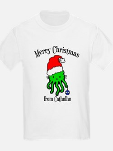 Cathulhu christmas Kids T-Shirt