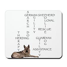 GSD crossword puzzle Mousepad