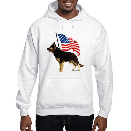 Patriotic German Shepherd Hooded Sweatshirt
