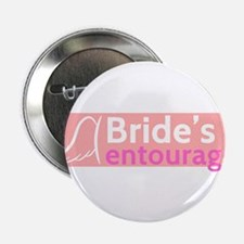"""The Bride's Entourage with Angel Wings 2.25"""" Butto"""