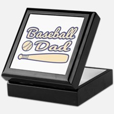 Chic and Cool Baseball Dad Keepsake Box