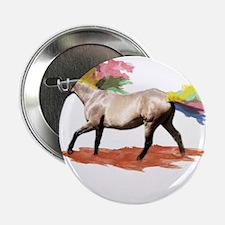 "Fantasy Art - Rainbow Horse 2.25"" Button"