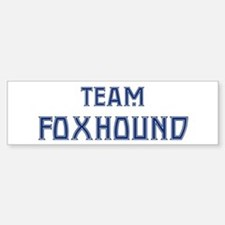 Team Foxhound Bumper Car Car Sticker