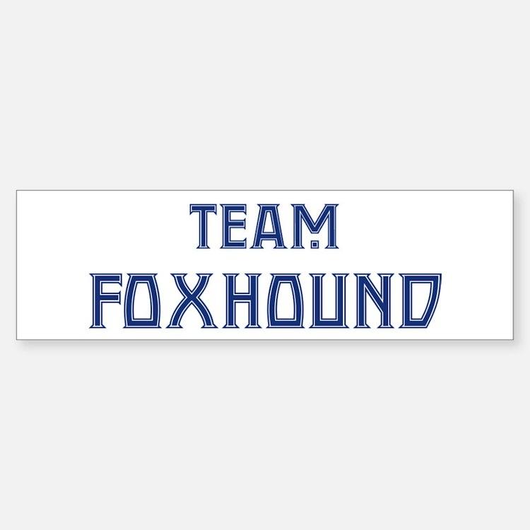 Team Foxhound Bumper Car Car Sticker