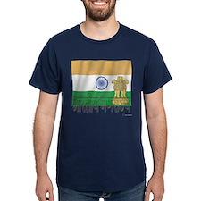 Silky Flag of India (Hindi) T-Shirt