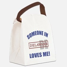 Someone In Delaware Loves Me Canvas Lunch Bag