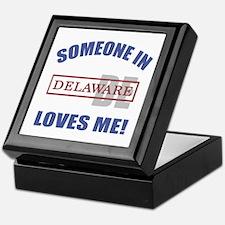 Someone In Delaware Loves Me Keepsake Box