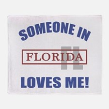 Someone In Florida Loves Me Throw Blanket