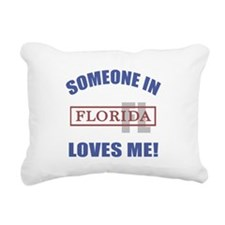 Someone In Florida Loves Me Rectangular Canvas Pil