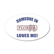 Someone In Florida Loves Me Wall Decal