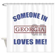 Someone In Georgia Loves Me Shower Curtain