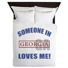 Someone In Georgia Loves Me Queen Duvet