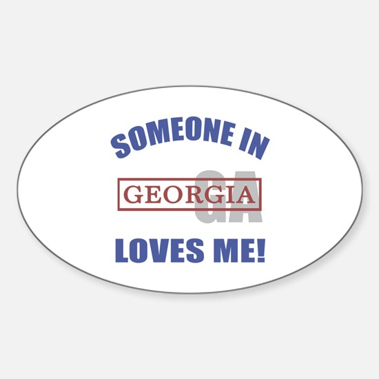 Someone In Georgia Loves Me Sticker (Oval)