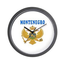 Montenegro Coat Of Arms Designs Wall Clock