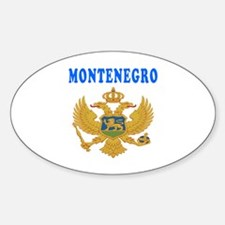 Montenegro Coat Of Arms Designs Sticker (Oval)